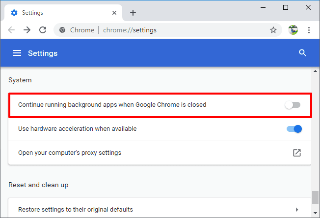 google chrome background processes