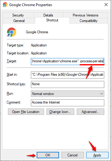 google chrome multiple processes fix