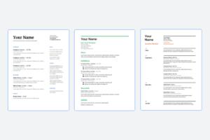 google docs resume templates