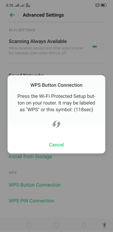 how to connect to password protected wifi on android