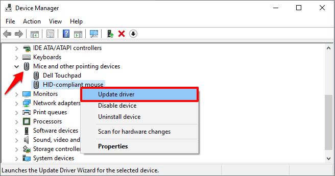 how to fix mouse cursor not moving in windows 10