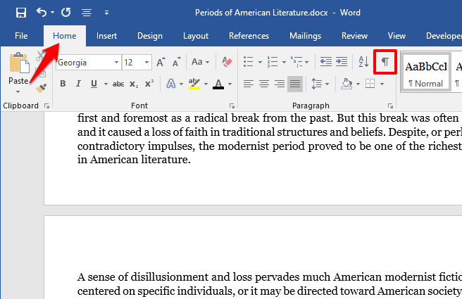 how to make one page landscape in word 2019