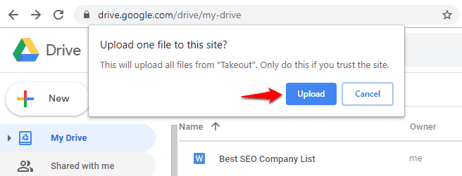 how to transfer entire google drive to another account