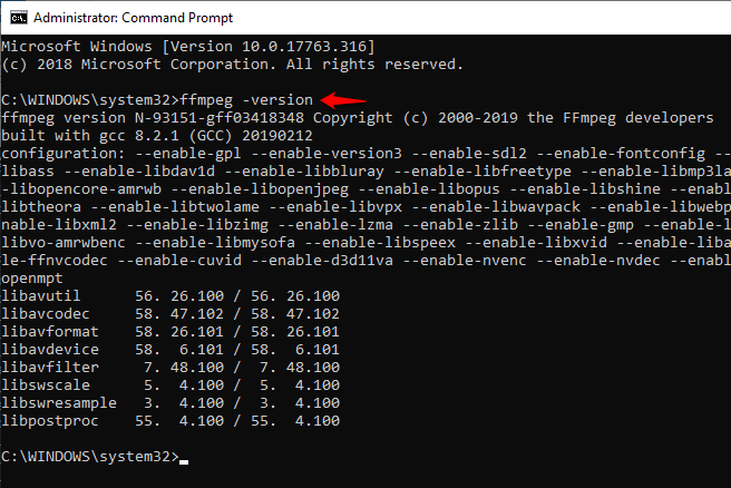installing ffmpeg on windows 10