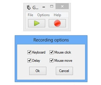 program to record mouse movements and clicks