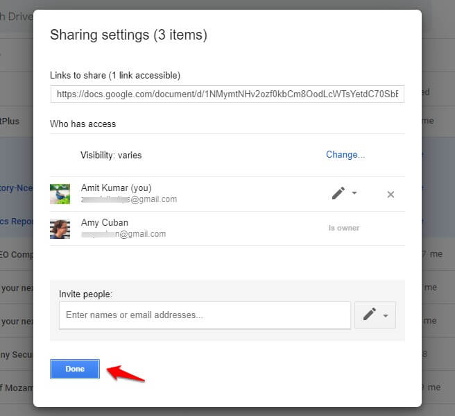 transfer google drive files from one account to another