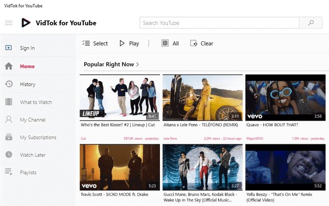 youtube apps for windows 10 free download