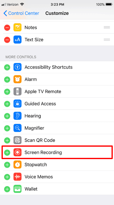 how do you screen record on iphone xr