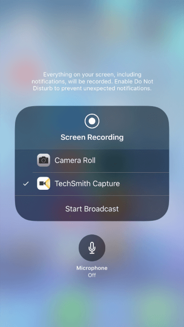 how to turn on screen record on iphone xr