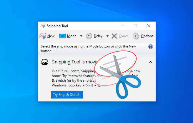 where is the snipping tool in Windows 10