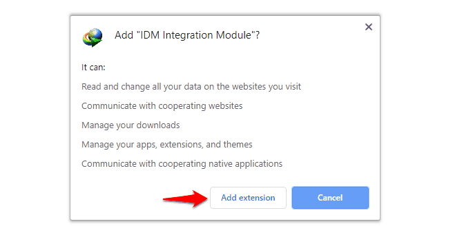 how to add idm extension in chrome in windows 10