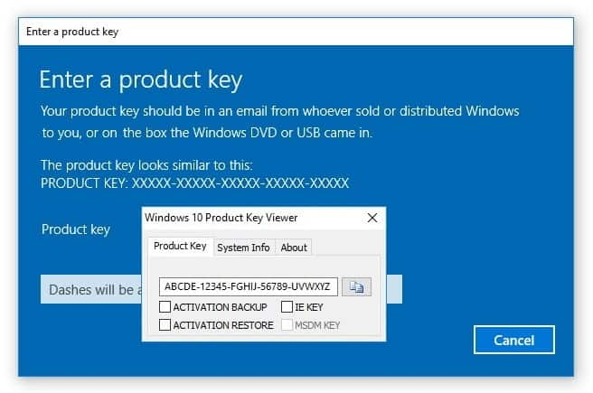 windows 10 product key finder
