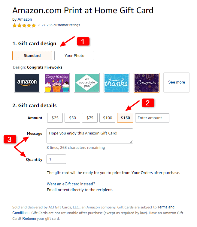 how to send an amazon gift card to someone else