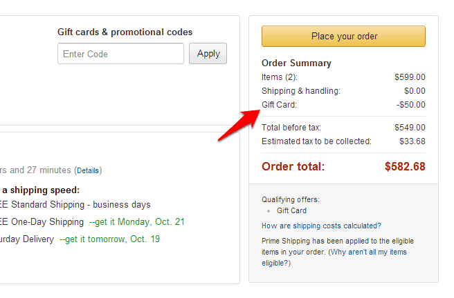 how to use amazon gift card on amazon payments