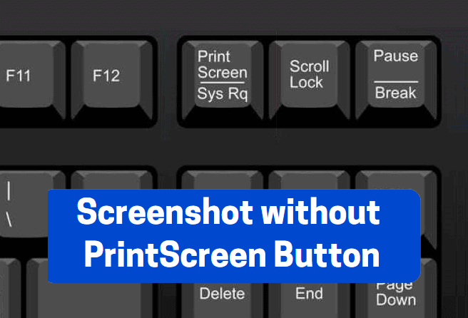 keyboard shortcut for print screen without printscreen button