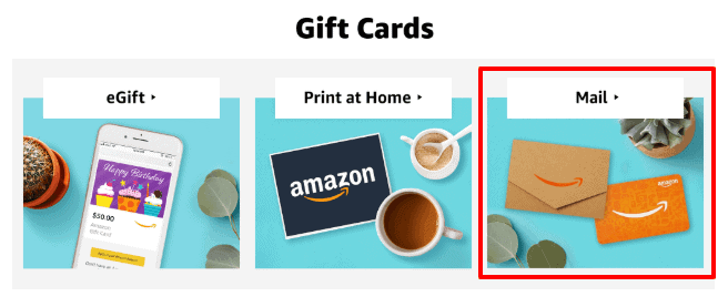 send a gift card by mail
