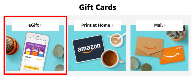 send amazon gift card by email