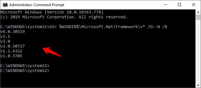 how to check .net framework version