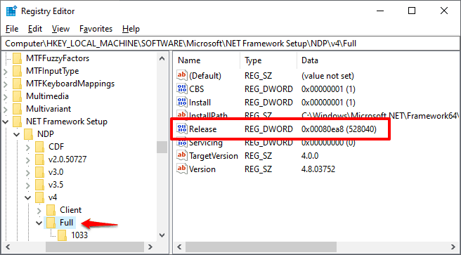 how to check .net version