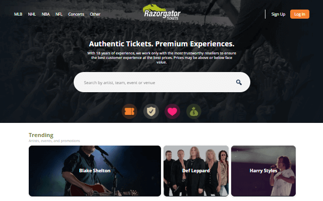 concert ticket resale website