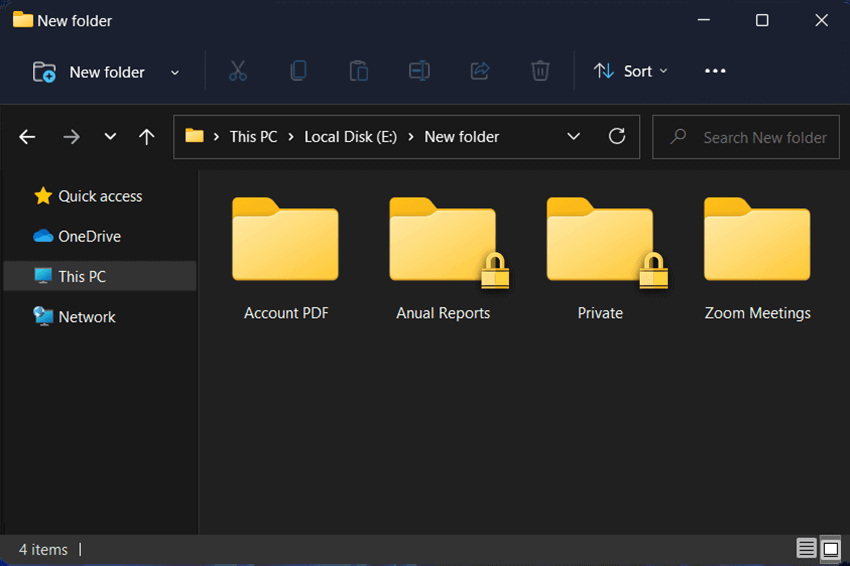 how to password protect a folder in windows 11
