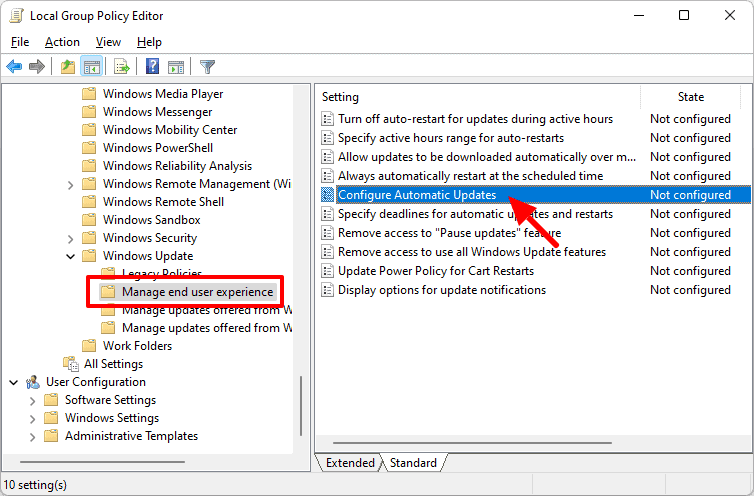 disable windows 11 automatic updates