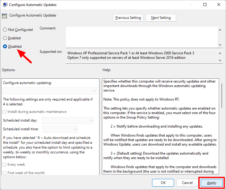 how to disable automatic updates on windows 11