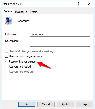 password expiration notification